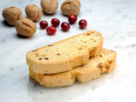 Mezzaluna Biscotti | Cranberry Walnut