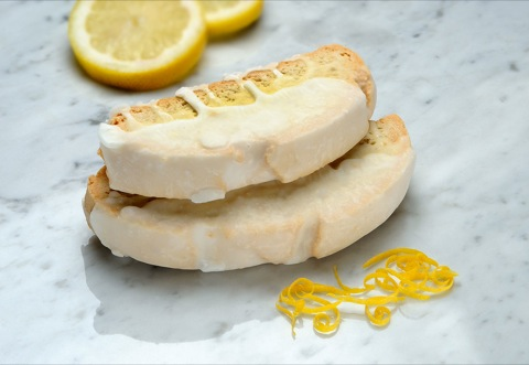 Mezzaluna Biscotti | Belgian Chocolate Dipped Luscious Lemon