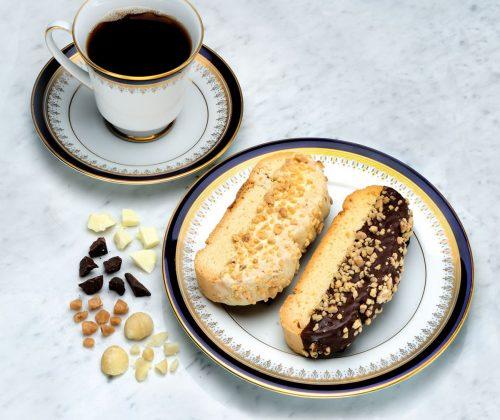 Mezzaluna Biscotti | Belgian Chocolate Dipped Islander