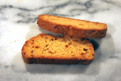Mezzaluna Salted Caramel Biscotti