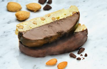Mezzaluna Biscotti Belgian Chocolate Dipped Almond