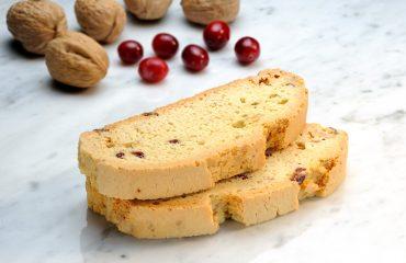 Mezzaluna Biscotti White Chocolate Cranberry Walnut Biscotti