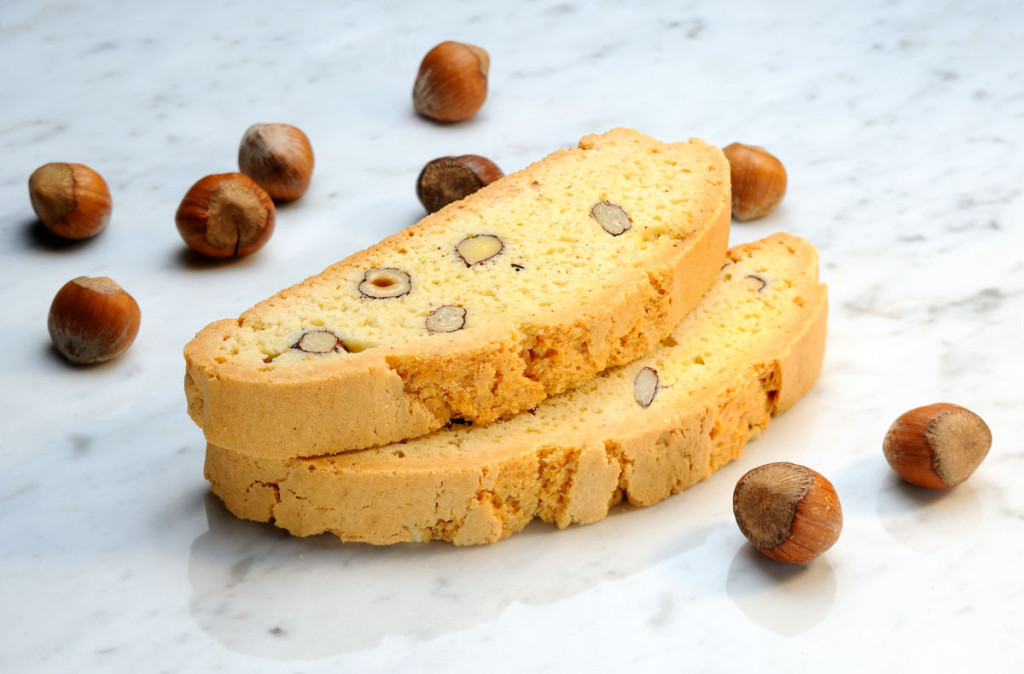 Mezzaluna Biscotti Hazelnut Biscotti