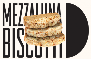 Mezzaluna Belgian Chocolate Dipped Pumpkin Pecan Biscotti