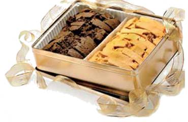 Mezzaluna Biscotti Gold Gift Tin
