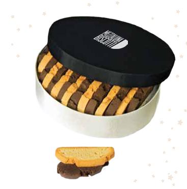 Mezzaluna Biscotti Hatbox Gift