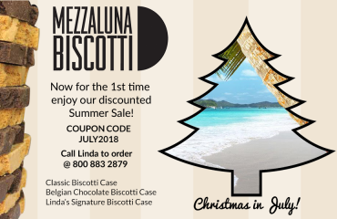 Biscotti Christmas in July | Mezzaluna Biscotti | Discount Coupon