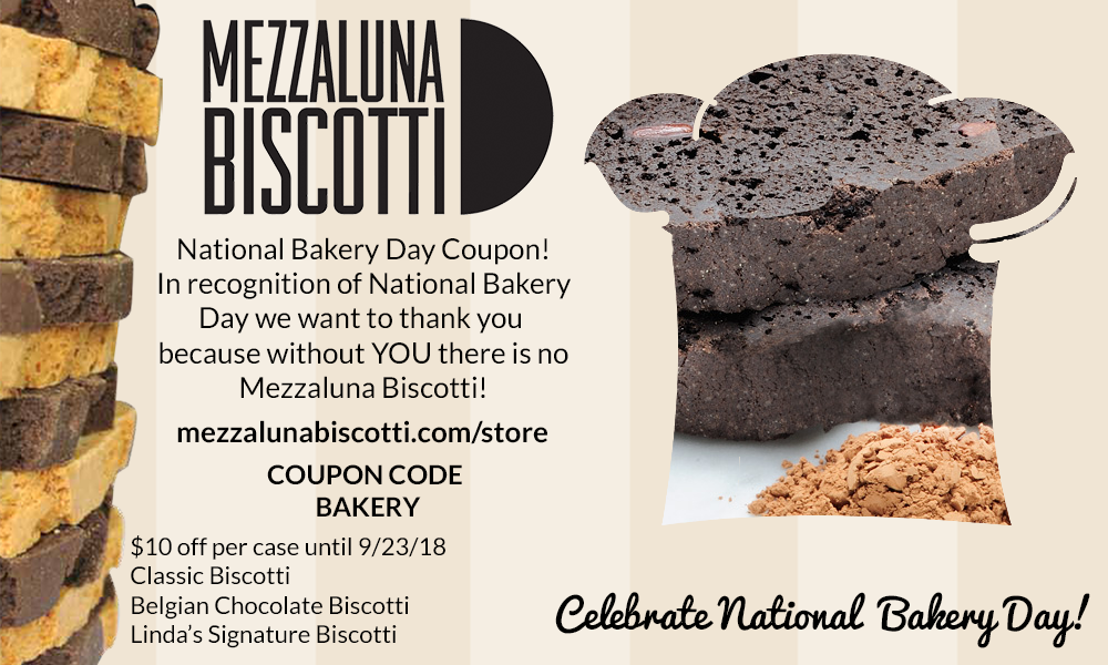 National Bakery Day 2018 | Mezzaluna Biscotti