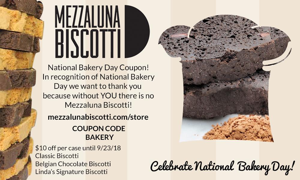National Bakery Day 2018 | Mezzaluna Biscotti